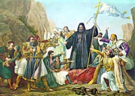 Loudovico Lapparini (1800-1856) - Ο Παλαιών Πατρών Γερμανός υψώνει τη σημαία της Επανάστασης