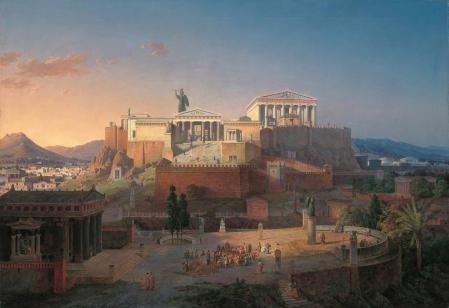 Leo von Klenze - Ανακατασκευή της Ακρόπολης και του Αρείου Πάγου στην Αθήνα (1846)