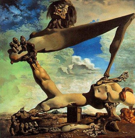 Salvador Dali — Μαλακή κατασκευή με βραστά φασόλια (Προμήνυμα Εμφυλίου Πολέμου) (1936)