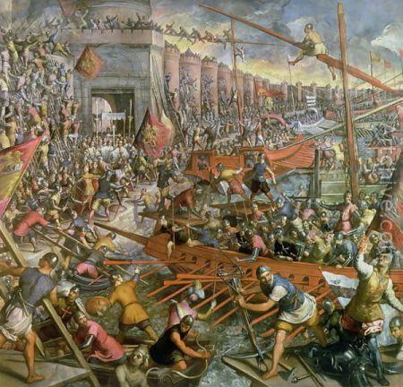 Jacopo Tintoretto - Η άλωση της Κωνσταντινούπολης το 1204 (16ος αιώνας)
