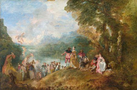 Jean-Antoine Watteau - Αναχώρηση για τα Κύθηρα (1718-1721)