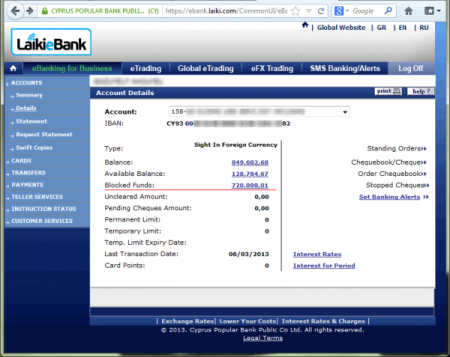 Laiki Bank account_0