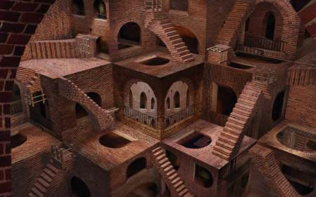 Abstract_architecture_Optical_Illusion_wallpaper