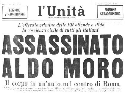 Πρωτοσελιδο για τη δολοφονία Α. Μορο