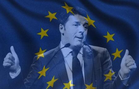 matteo-renzi-europa-flag