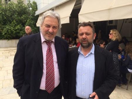 Οι συναγωνιστές και υποψήφιοι του Ε.Πα.Μ. Δ. Κυπριώτης και Γ. Σιδέρης