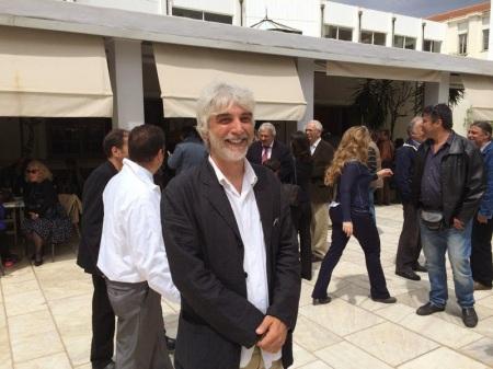 Ο συναγωνιστής και υποψήφιος του Ε.Πα.Μ. και αγωνιστής της ΕΡΤ Θ. Συμβουλόπουλος