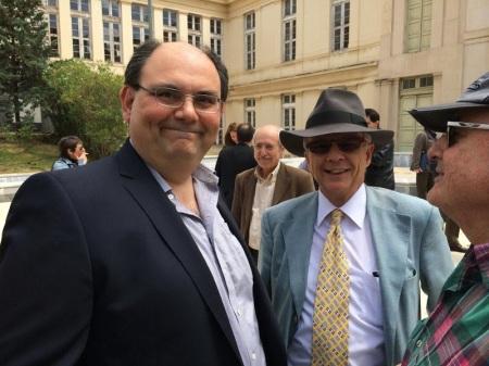 Ο Γ.Γ. του Ε.Πα.Μ Δ.Καζάκης και ο πρέσβης, συναγωνιστής και υποψήφιος κ. Λ. Χρυσανθόπουλος.